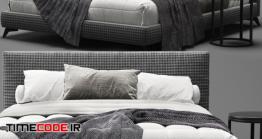 دانلود مدل آماده سه بعدی : تخت خواب Meridiani Stone Up Bed