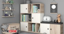 دانلود مدل آماده سه بعدی : دکوراسیون اتاق کودک Set Of Furniture And Decor For A Children Room 6