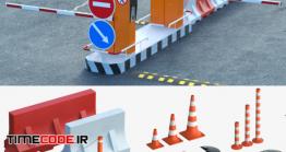 دانلود مدل آماده سه بعدی : لوازم جاده سازی Equipment For The Creation Of Parking Lots, Road Fences