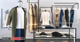دانلود مدل آماده سه بعدی : ویترین لباس Clothing And Accessories For The Store