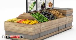 دانلود مدل آماده سه بعدی : پیش خوان میوه فروشی Vegetable Camber
