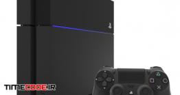 دانلود مدل آماده سه بعدی : پلی استیشن SONY PlayStation 4