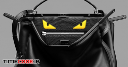 دانلود مدل آماده سه بعدی : کیف چرم Bag Fendi Bags Peekaboo