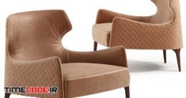 دانلود مدل سه بعدی : صندلی راحتی Vittoria Frigerio Piola Capittone