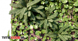 دانلود مدل آماده سه بعدی : گیاه رونده Wall Decor Panel Vertical Garden