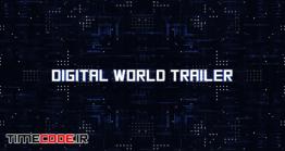 دانلود پروژه آماده پریمیر : تریلر دیجیتال + موسیقی Digital World Trailer