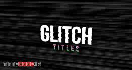 دانلود پروژه آماده پریمیر : تایتل پارازیت Glitch Titles