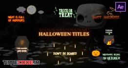 دانلود پروژه آماده افترافکت : تایتل کارتونی هالووین Halloween Cartoon Titles
