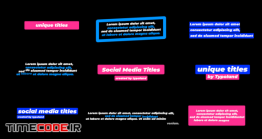 دانلود پروژه آماده فاینال کات پرو : تایتل شبکه های اجتماعی Social Media Titles