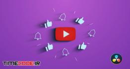 دانلود پروژه آماده داوینچی ریزالو : لوگومینیمال یوتیوب Youtube Minimal Logo