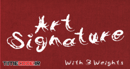 دانلود فونت انگلیسی گرافیکی به سبک امضا Art Signature