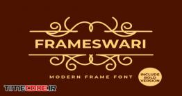 دانلود فونت انگلیسی کلاسیک  Frameswari