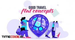 دانلود تیزر موشن گرافیک مسافرت Good Travel – Flat Concept