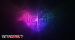دانلود پروژه آماده افترافکت : لوگو نئون + موسیقی Light Logo