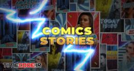 دانلود پروژه آماده افترافکت : استوری اینستاگرام به سبک کمیک بوک Comics Instagram Stories