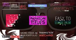 دانلود پروژه آماده فاینال کات پرو : تایتل Juicy Fashion Titles