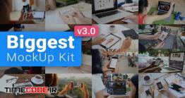 دانلود پروژه آماده افترافکت : مجموعه عظیم موکاپ لپ تاپ و موبایل MockUp Kit