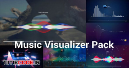 دانلود پروژه آماده افترافکت : مجموعه اکولایزر Music Visualizer Pack