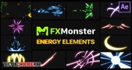 دانلود پروژه آماده افترافکت : المان کارتونی Energy Elements | After Effects