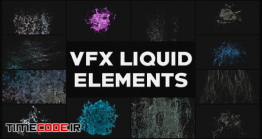 دانلود پروژه آماده افترافکت : المان های کارتونی VFX Liquid Elements
