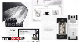 دانلود پروژه آماده افترافکت : معرفی وب سایت Website Promo Design Studio