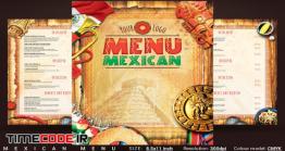 دانلود فایل لایه باز منو غذا رستوران مکزیکی Mexican Menu