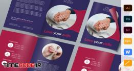 دانلود طرح لایه باز بروشور کاشت ناخن  Nail Studio Brochure Bifold