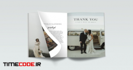 دانلود فایل لایه باز آلبوم عکس عروس Wedding Planner Magazine Template