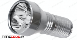 دانلود عکس استوک : چراغ قوه A Flashlight Isolated On White