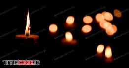 دانلود عکس استوک : شمع و بوکه Candle Flame