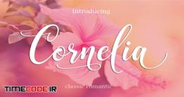 دانلود فونت انگلیسی خوشنویسی CORNELIA Modern Script