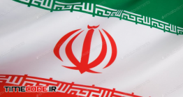 دانلود عکس استوک : پرچم ایران Detail On The Flag Of Iran