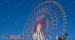 دانلود عکس استوک : چرخ و فلک شهر بازی Ferris Wheel Over Blue Sky