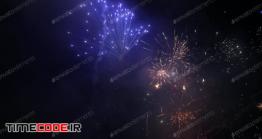 دانلود عکس استوک : آتش بازی در شب Firework At Night Sky