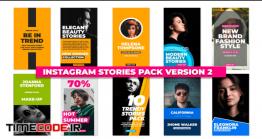دانلود پروژه آماده پریمیر راش : استوری اینستاگرام Instagram Stories Pack V2