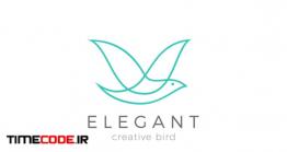 دانلود فایل لایه باز لوگو با طرح پرنده Logo Flying Bird Elegant Cosmetics Fashion Brand