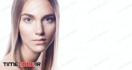دانلود عکس چهره زن با پس زمینه سفید  Make Up