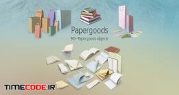 دانلود مجموعه عکس بدون پس زمینه : کاغذ و دفتر و کتاب Papergoods Collection