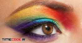 دانلود عکس آرایش فانتزی چشم  Rainbow Makeup