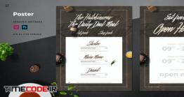 دانلود فایل لایه باز پوستر رستوران Restaurant Poster