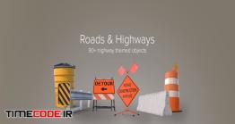 دانلود مجموعه عکس بدون پس زمینه : علائم جاده سازی Roads & Highways Collection