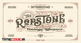 دانلود فونت انگلیسی کلاسیک Ropstone Typeface