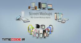 دانلود مجموعه عکس بدون پس زمینه : کامپیوتر و موبایل Screen Mockup Collection