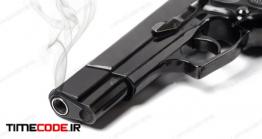 دانلود عکس استوک : اسلحه Smoking Gun