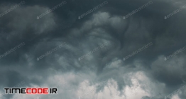 دانلود عکس استوک : آسمان طوفانی قبل از رعد و برق Stormy Sky Before Rain Thunderstorm