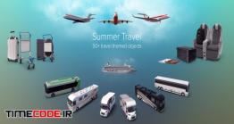 دانلود مجموعه عکس بدون پس زمینه : فرودگاه Summer Travel Collection Images