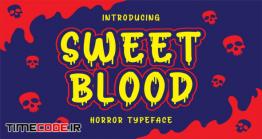 دانلود فونت انگلیسی فانتزی هالووین Sweet Blood – Horror Typeface