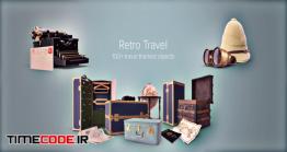 دانلود مجموعه عکس بدون پس زمینه : لوازم قدیمی سفر Retro Travel Collection