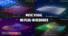دانلود پروژه آماده افترافکت : اکولایزر با موج Wave Music Visualizer