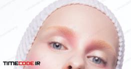 دانلود عکس فشن Young Woman In Creative Image With Artistic Make-up